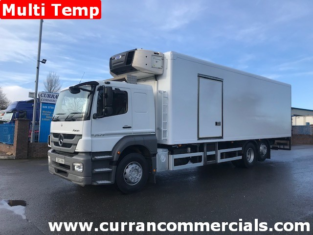 2013 mercedes axor 2529 6x2 26 ton multi temp fridge